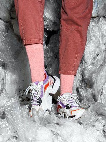 Tip na darček Ponožky z recyklovanej bavlny Broskyňa