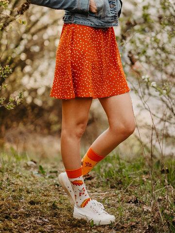 Wyprzedaż Skarpetki wesołe bawełniane z recyklingu Jesienny jeż