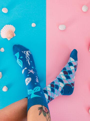 Lifestyle foto Весели чорапи от рециклиран памук Русалка