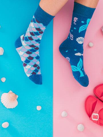 Výnimočný darček od Dedoles Весели чорапи от рециклиран памук Русалка