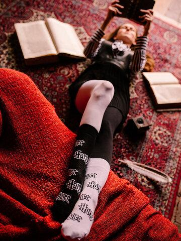 Sale Harry Potter Regular Socks ™ Black and White