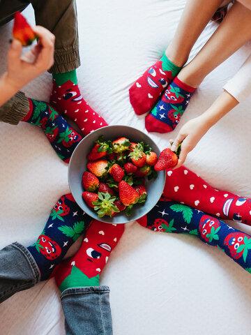 Lifestyle foto Veselé ponožky Šťastné jahody