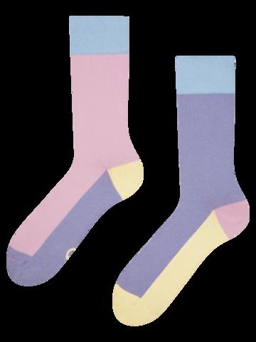 Výpredaj Chaussettes violet pastel Tricolore