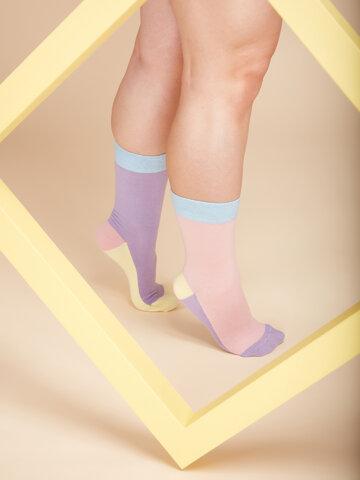Pre dokonalý a originálny outfit Chaussettes violet pastel Tricolore