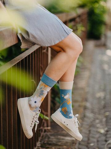 Hľadáte originálny a nezvyčajný darček? Obdarovaného zaručene prekvapí Veselé bambusové ponožky Prebúdzanie prírody