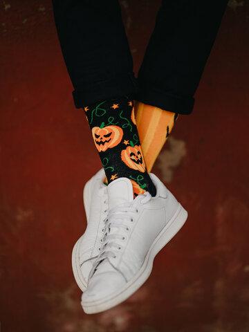 Sale Regular Socks Halloween Pumpkin