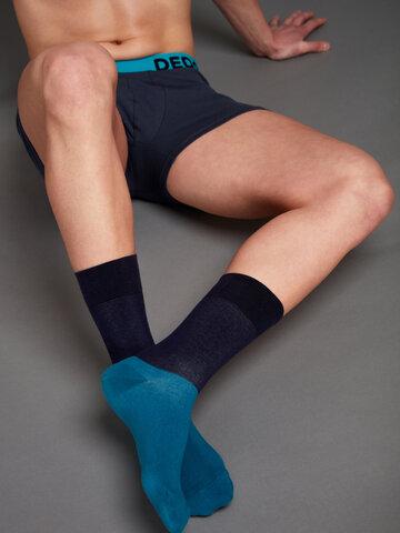 Výnimočný darček od Dedoles Temno modre nogavice Ravnotežje