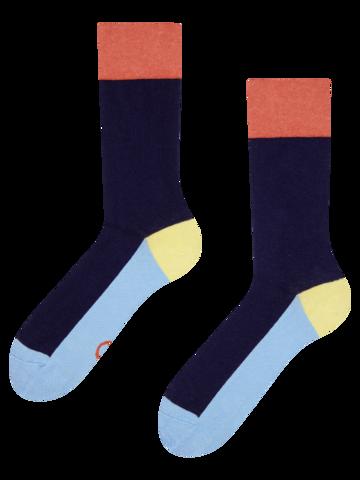 Potešte sa týmto kúskom Dedoles Temno modre nogavice Tribarvnice