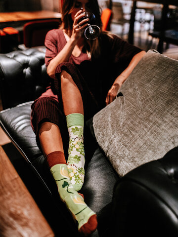 für ein vollkommenes und originelles Outfit Lustige Socken Weißwein