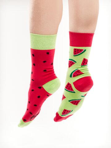 Lifestyle foto Veselé ponožky Červený melón