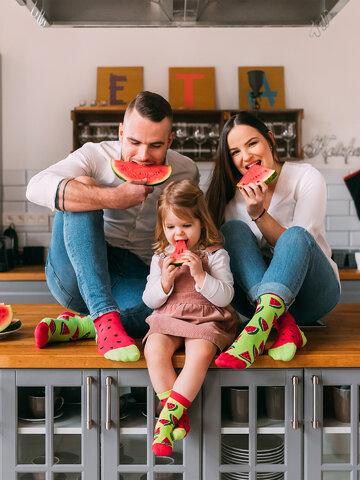 Výpredaj Veselé ponožky Červený melón