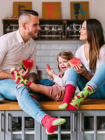 Obrázok produktu Veselé ponožky Červený melón