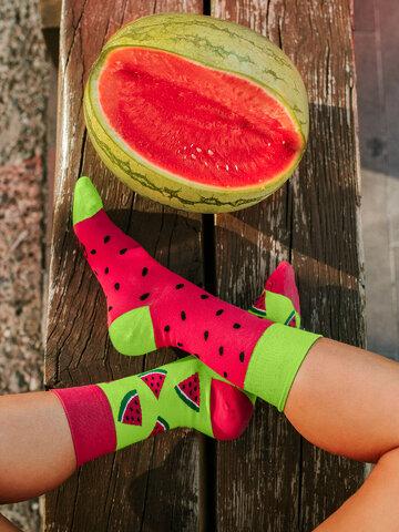 Hľadáte originálny a nezvyčajný darček? Obdarovaného zaručene prekvapí Veselé ponožky Červený melón