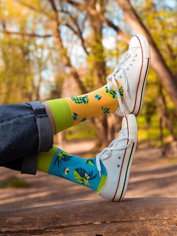 Výjimečný dárek od Dedoles Veselé ponožky Chameleon a hmyz