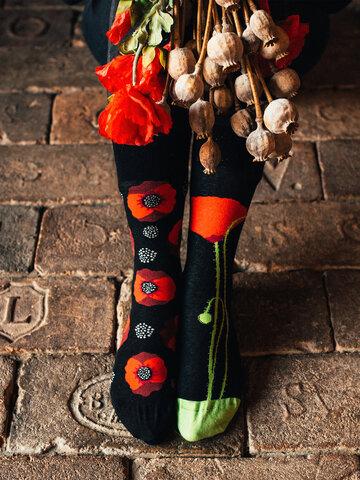 Pre dokonalý a originálny outfit Calcetines alegres Flor de amapola