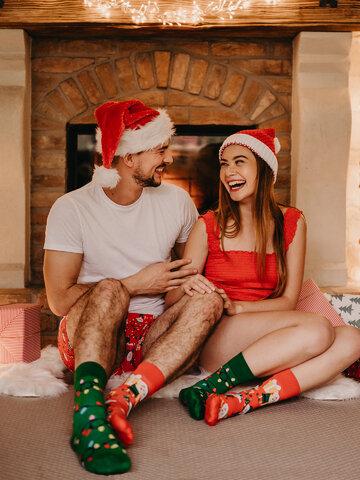 Lifestyle foto Veselé ponožky Elfové