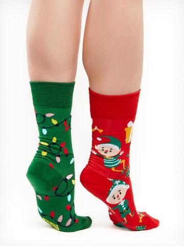 Hledáte originální a neobvyklý dárek? Obdarovaného zaručeně překvapí Veselé ponožky Elfové