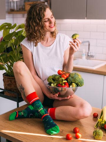 Pre dokonalý a originálny outfit Vesele čarape Brokula