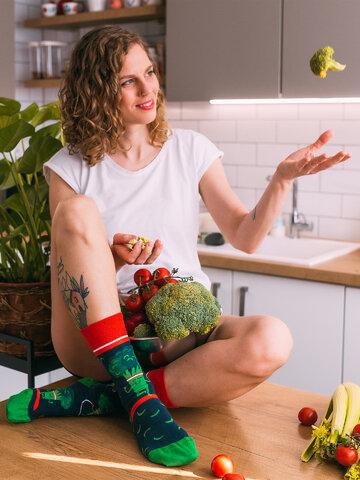 Potešte sa týmto kúskom Dedoles Vesele čarape Brokula