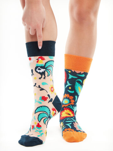 Original gift Regular Socks Folk Rooster