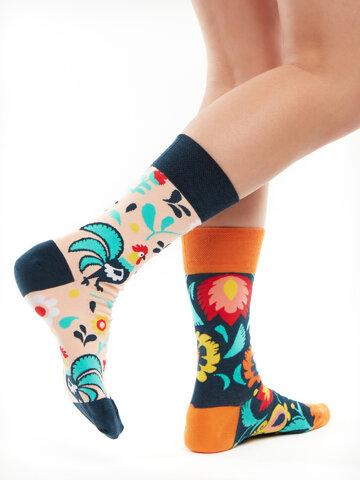 Gift idea Regular Socks Folk Rooster