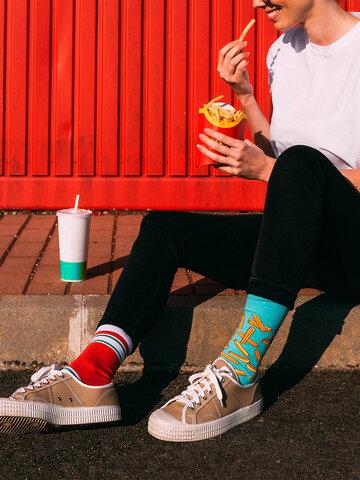 Geschenktipp Lustige Socken Pommes mit Ketchup