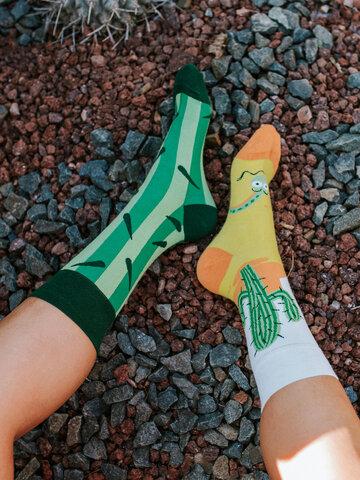 Eredeti ajándék a Dedolestől Vidám zokni Kaktusz