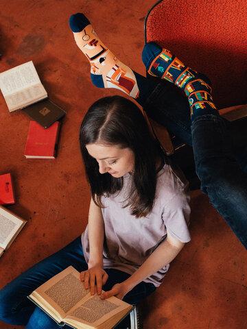 Zľava Vesele čarape Knjižnica