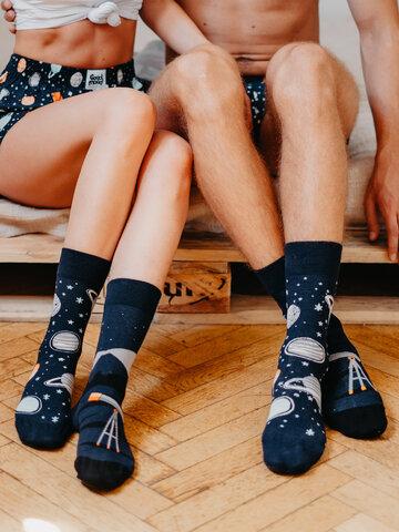 Foto Veselé ponožky Vesmír