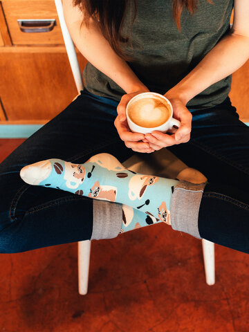 Lifestyle photo Regular Socks Sloth in a Cup