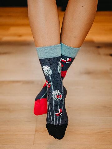 Výnimočný darček od Dedoles Весели чорапи Калинки и макове