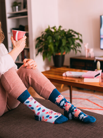 Obrázok produktu Vrolijke sokken Vliegende varkens