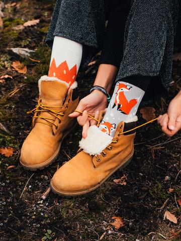Tip na darček Veselé ponožky Líška