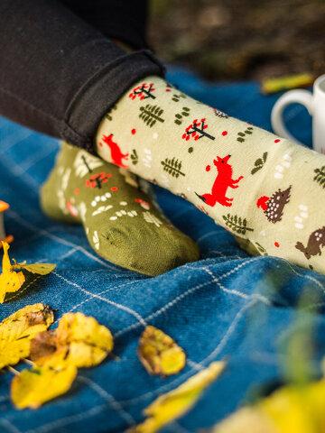 Zľava Veselé ponožky Líška v lese