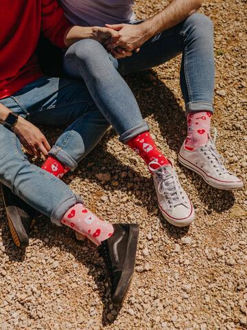 Obrázok produktu Veselé ponožky Ľúbostné listy