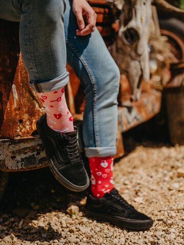 Výpredaj Veselé ponožky Ľúbostné listy