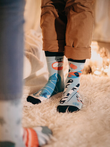 Pre dokonalý a originálny outfit Vrolijke sokken Skiën