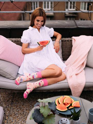 Tip na darček Veselé ponožky Mačka s melónom