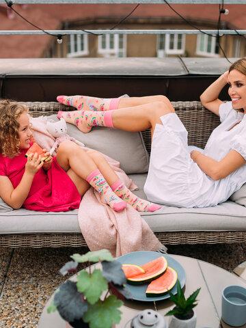 Obrázok produktu Veselé ponožky Mačka s melónom