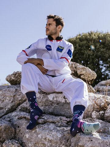 Výpredaj Vrolijke sokken Space Cat