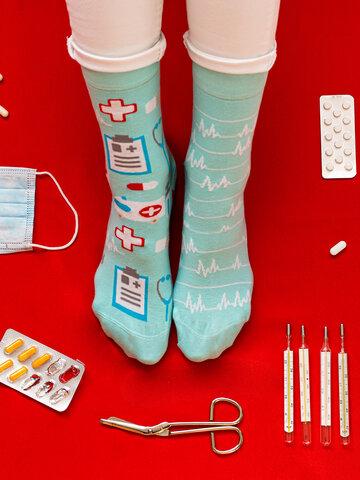 Foto Veselé ponožky Medicína