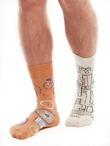 Pre dokonalý a originálny outfit Živahne nogavice Mestno kolo