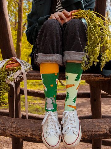 Ausverkauf Lustige Socken Kaninchen und Karotte