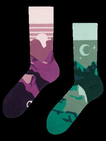 Výnimočný darček od Dedoles Živahne nogavice Sončni zahod in noč