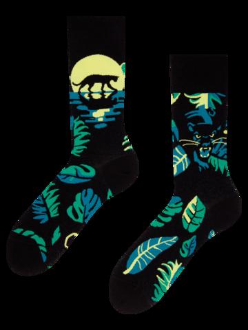 Geschenk von Dedoles Lustige Socken - Nacht-Panther