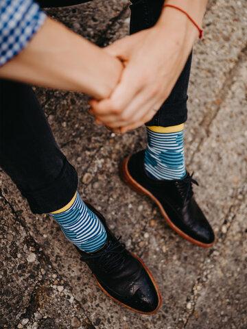 Lifestyle foto Veselé ponožky Optická ilúzia