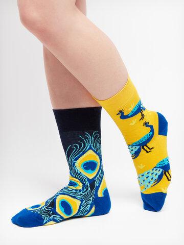 Geschenktipp Lustige Socken Pfau