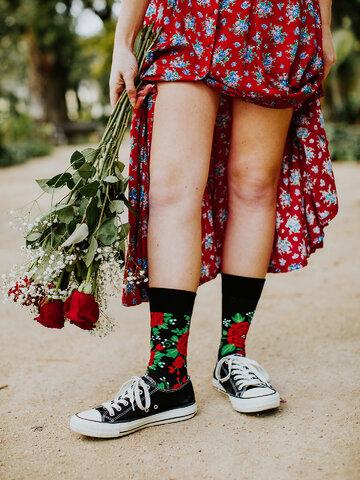 pentru outfit-ul perfect Șosete vesele Trandafiri