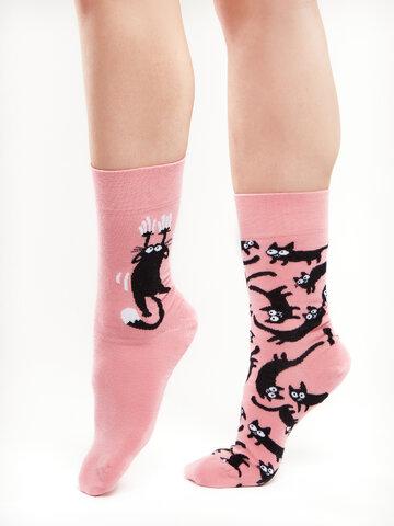 Hľadáte originálny a nezvyčajný darček? Obdarovaného zaručene prekvapí Živahne nogavice Roza mačke