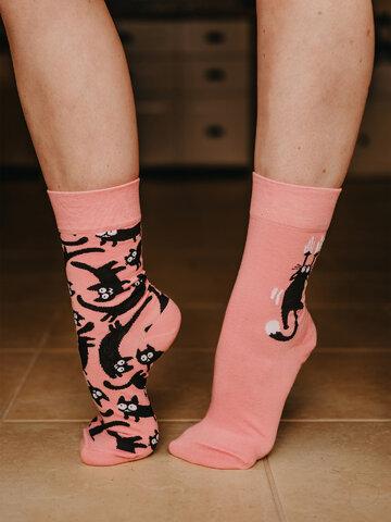 Potešte sa týmto kúskom Dedoles Živahne nogavice Roza mačke